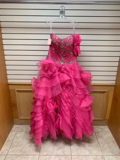 Da Vinci 80062 Lipstick Pink Dress, Size 10