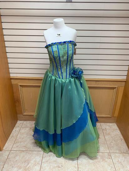 US Green/Blue Dress, Size 12