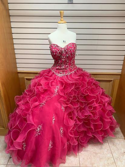 Royal Ball Pink Dress, Size 14