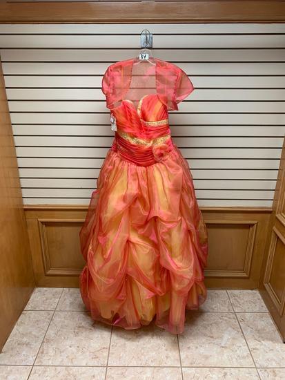 Mori Lee Orange Dress, Size 10