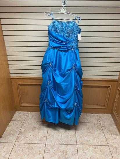 Mori Lee 5782 Turquoise Dress, Size 12