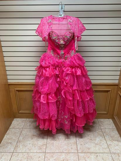 P.C. Mary's 4Q949 Fushia Dress, Size 10