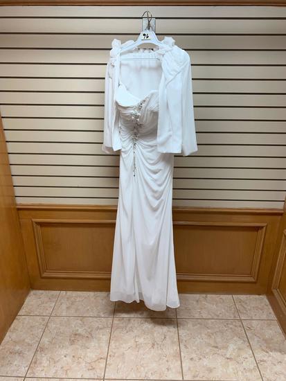 Modern Maids 2511 White Dress, Size 10
