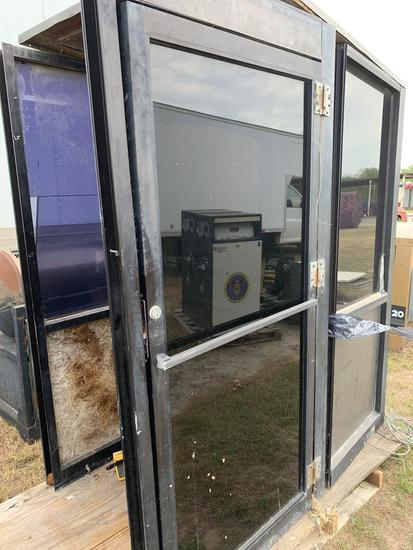 2 Black Glass Security Rooms