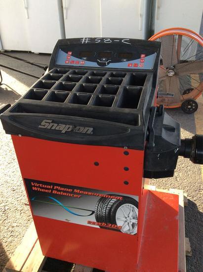 Snap-on tire balancer