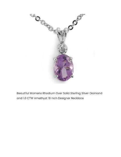 BEAUTIFUL WOMENS RHODIUM OVER SOLID STERLING SILVER DIAMOND