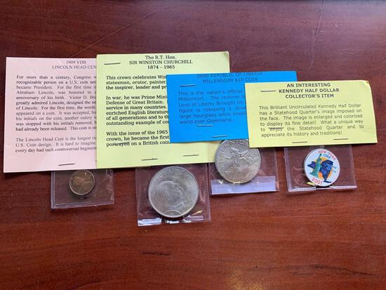 Group of coins cents, Liberia coins,
