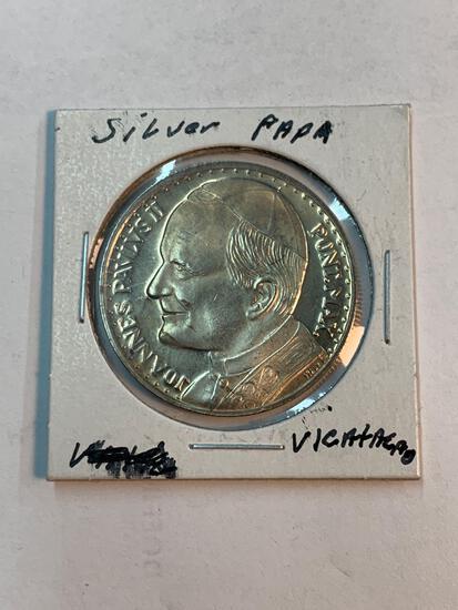 Silver Papa coin, Roma - Citta del Vaticano...