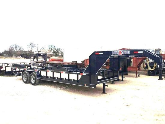 "2020 New Black Double A 83"" x 24"" Gooseneck Two 7K axles"