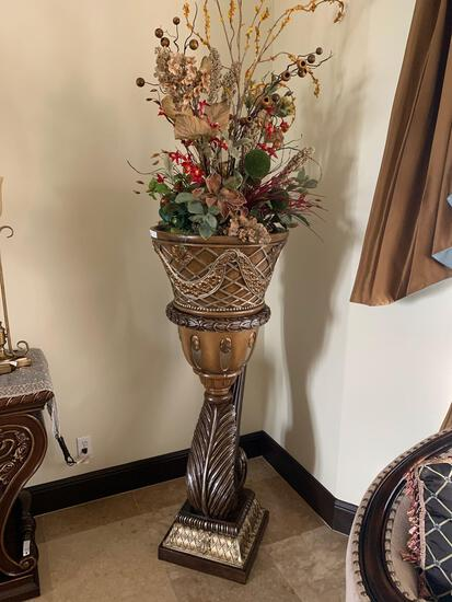 decorative rustic wooden flower vase