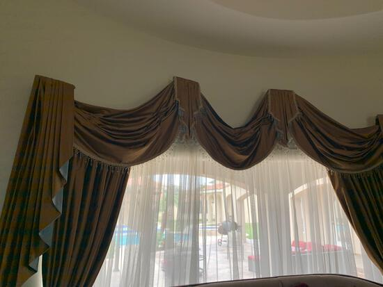 custom made decorative window drapes with diamond design