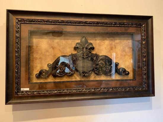 French lily cast iron decorative frame