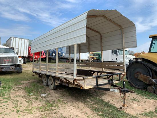 2 Axle Trailer with Canopy & Benches