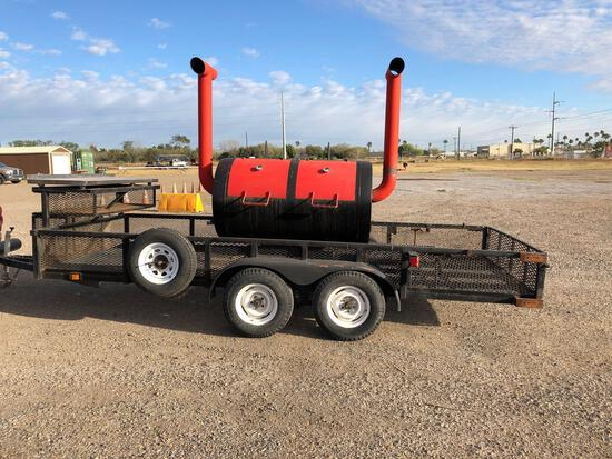 BBQ Pit on Trailer (Bill of Sale Only)