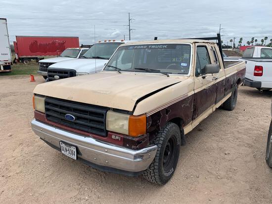 1988 Ford F-150 Pickup Truck, VIN # 1FTEX15N7JKA53389
