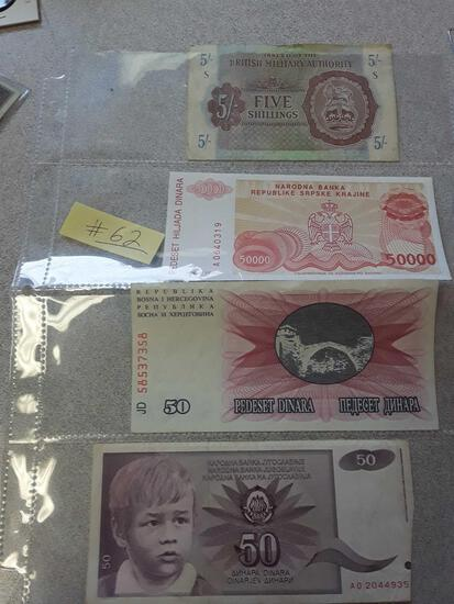 Foreign Paper Money Collection
