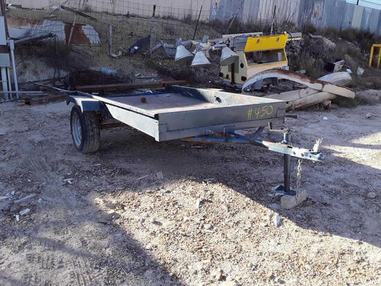 5'x8' Single Axle Homemade Utility Trailer