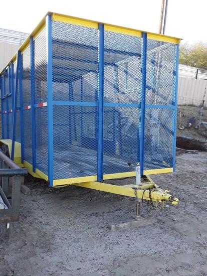 7'x16' Utility 2 Axle Trailer with Expanded Metal Cage