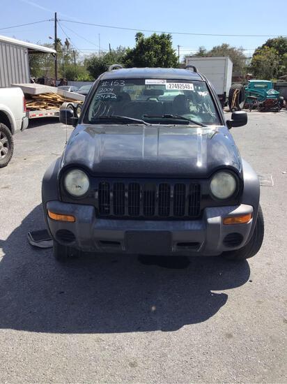 2004 Jeep Liberty Multipurpose Vehicle (MPV), VIN # 1J4GK48K14W185422
