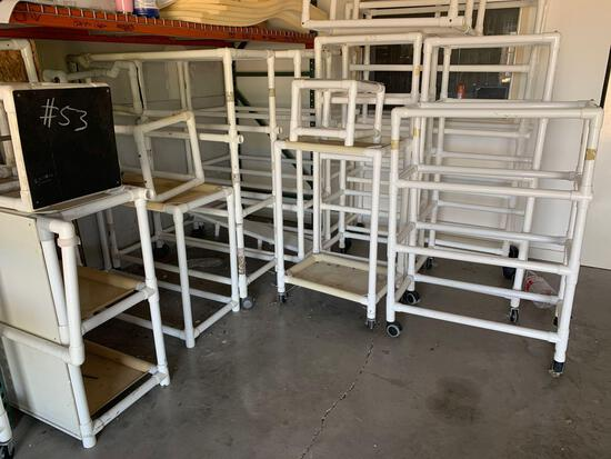 PVC carts and shelves