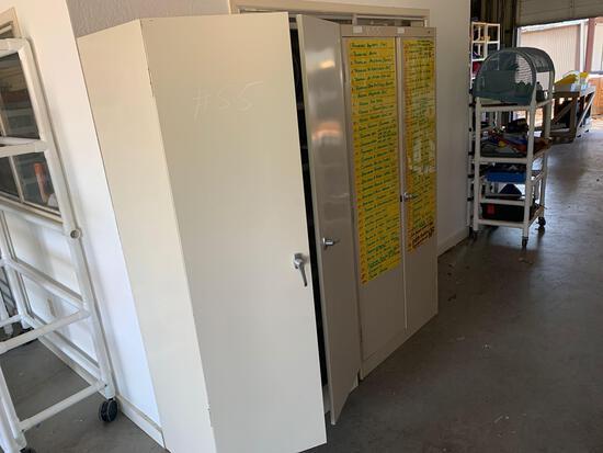 6ft metal double door filing cabinet