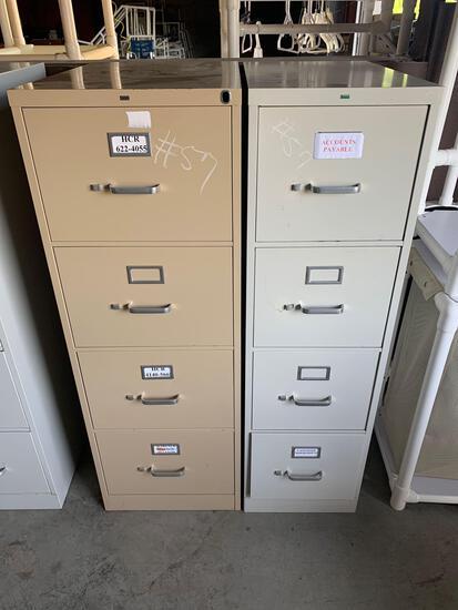 (2) metal filing cabinets