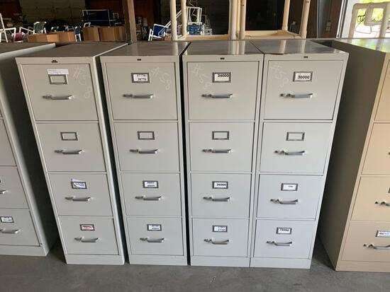 (4) metal filing cabinets