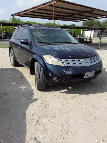 2004 Nissan Murano Multipurpose Vehicle (MPV), VIN # JN8AZ08T94W211648
