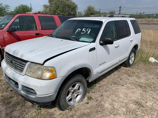 2002 Ford Explorer Multipurpose Vehicle (MPV), VIN # 1FMZU63E82UA31879