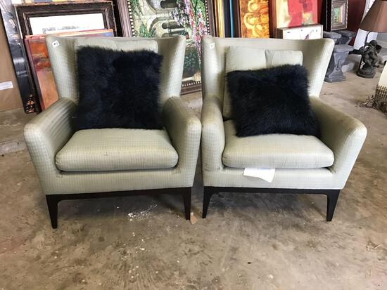 Sofa Chair with Black Pillow