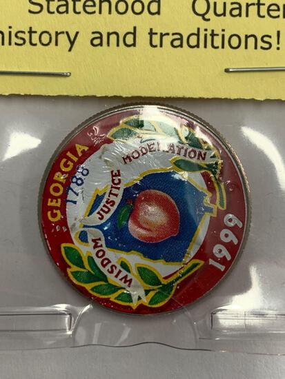 1999 Kennedy Half Dollar with Georgia Statehood Quarter Image