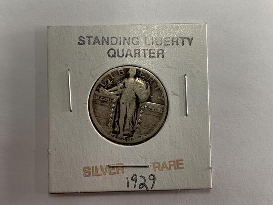 Silver rare 1929 Standing Liberty Quarter