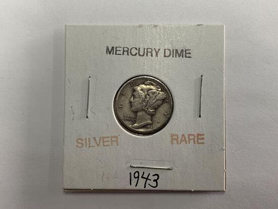 Silver rare 1943 Mercury Dime