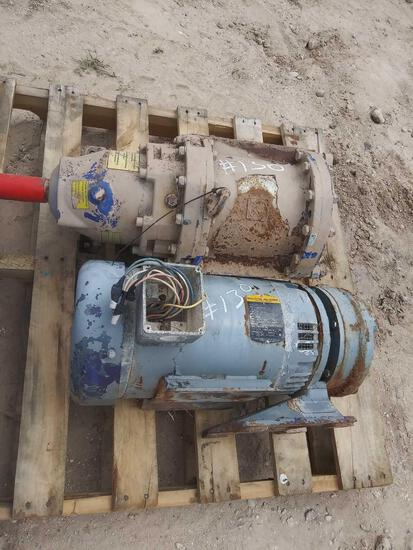 15 HP Elec. Motor with Water Pump & Vogelsang Pump