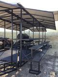 7'x20' Custom Made 2 Axle BBQ Trailer Frame with Canopy