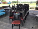 25 Black/Red Wooden Chairs