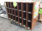 Pallet w/Wooden Cubbie Hole Cabinet (Pallet #113F)