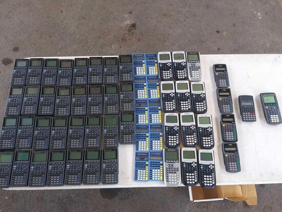 """(31)""""TI-82"""", (10)""""Blue Math Explorer"""", (12)""""TI-84"""", (4)""""TI-30XA"""", (1)""""Casio FX-250HC"""", (1)""""TI-73"""""""