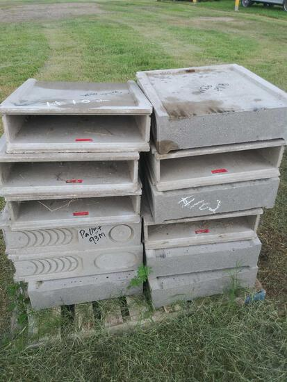 Pallet with Concrete Boxes