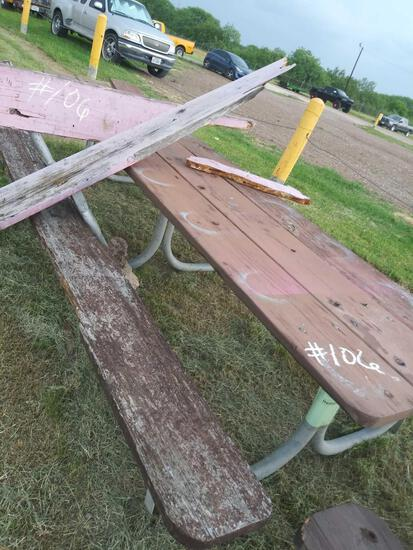 (1) Picnic Table 14 ft. long,, (1) Outdoor Bench 14 ft. long.