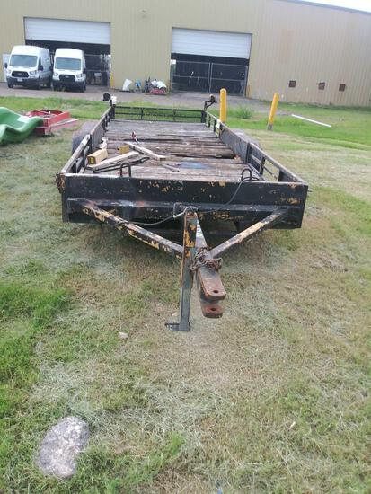 2Axle Utility Trailer 20ft. (Bill of Sale) 5-lugs, Folding Side Rails