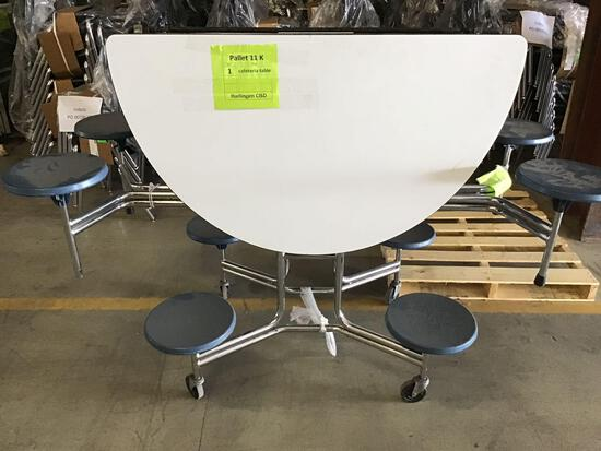 1 Round Cafeteria Table