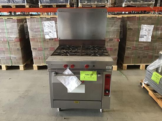(1)Vulcan 4-Burner Commercial Gas Range