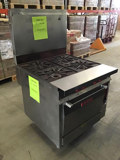 (1) Vulcan 4-Burner Commercial Gas Range