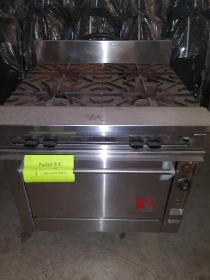 (1)Wolf 4-Burner Commercial Gas Stove