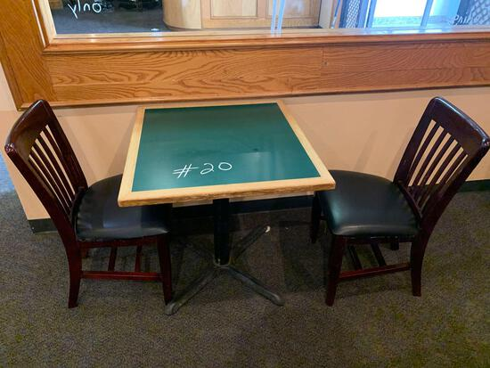 1-Small Table w/2 Chairs
