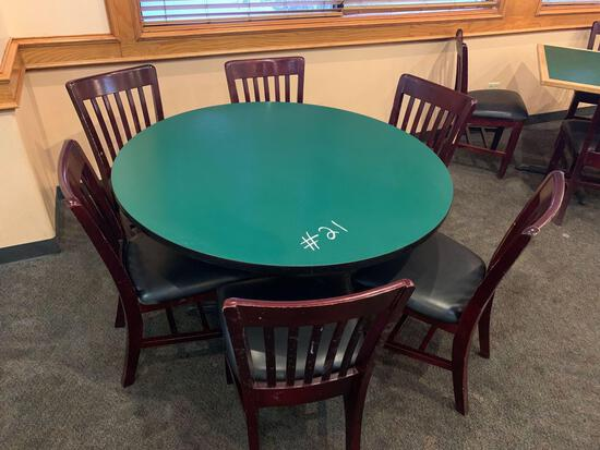 1-Round Table w/6 Chairs
