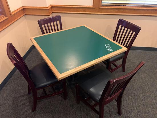 1-Square Table w/4 Chairs