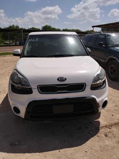 2013 Kia Soul Multipurpose Vehicle (MPV), VIN # KNDJT2A60D7578090