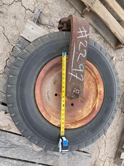 Pallet w/Plow Stabilizer Wheel
